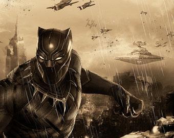 Black Panther Star Wars Mash-Up 11x17 High Quality Poster Art Print