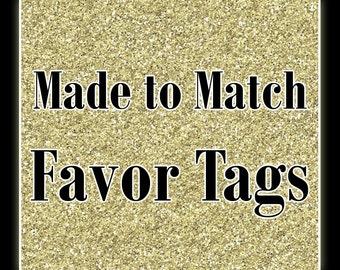 Matching Printable Favor Tags