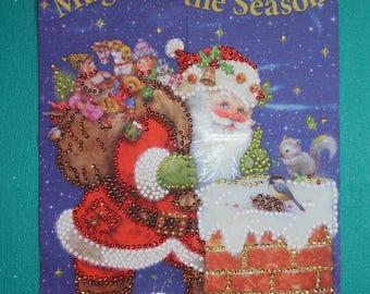 Sequin/bead Santa Wall Banner