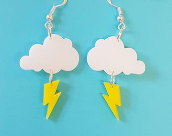 Thundercloud Earrings - Acrylic