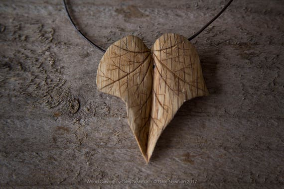 Hand Carved 'Ivy Leaf...