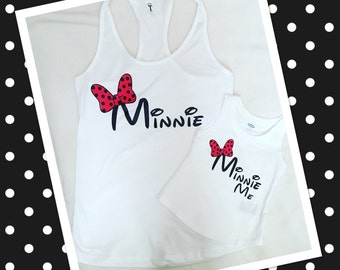 Minnie Mouse Inspired Mommy Daughter TShirts/Tank Tops