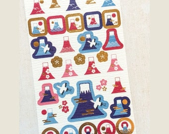 Fuji Stickers from Japan - Traditional Textured Paper