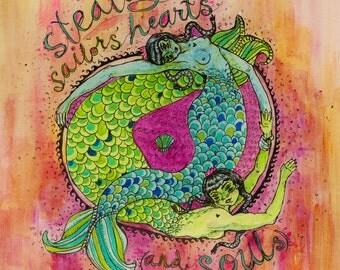 Greeting Cards -- Set of 4 -- Mermaids/Sea Sirens