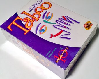 Vintage New Sealed & Unopened Taboo The Game of Unspeakable Fun by Milton Bradley - 10th Anniversary Edition Board Game (NOS)