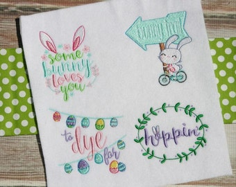 Easter Sentiments Too 13 Machine Embroidery Designs 4x4 5x7