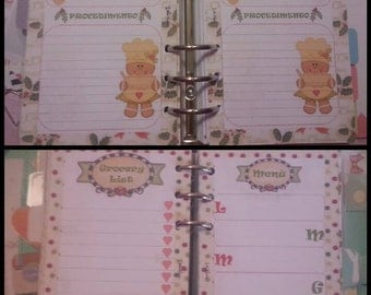 Christmas Menu Planner Refill with menu and shopping list and refill for Christmas recipes