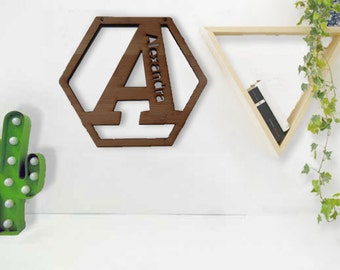 Personalised Eco friendly Bamboo Monogram letters