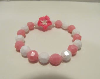 Flower Beaded Stretch Bracelet/ Birthday Gift/ Gifts for her/ Gifts for girls/ Gifts for kids/ Girls Bracelet/ Flower bracelet/Kids Bracelet