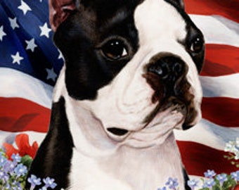 Boston Terrier Garden Flags
