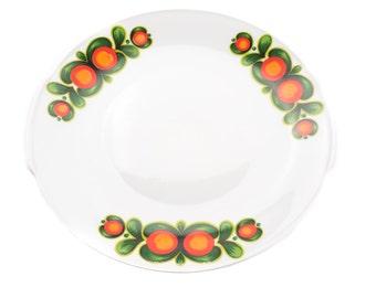 Vintage German serving plate 1970s - oranges and greens