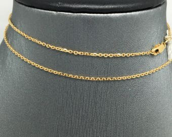 18K Yellow Gold Cable Chain