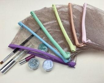 Rainbow Glitter Makeup Bag