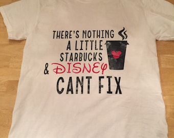 Disney and starbucks shirt