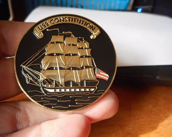 USS Constitution Once A Chief Always A Chief USN Navy CPO Challenge Coin