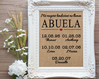 Abuela Valentines Gift, Gift for Spanish Mom, Spanish Mom Gift, Abuela Gift, Gift for Abuela, Regalo para Abuela, Gift from Daughter to Mom
