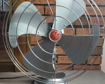 Antique Vintage 1940's GE Vortalex 16 inch Electric Fan