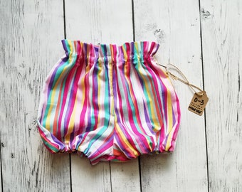 READY TO SHIP Rainbow Bloomers - Size 0-3 Months