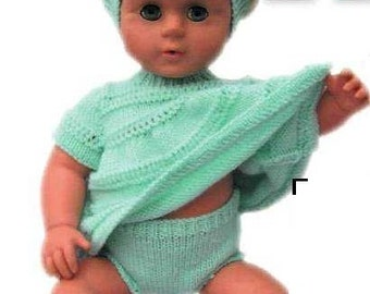 Knitting Pattern for Tiny Tears doll instant download knitting pattern