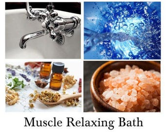 Muscle Relaxing Bath, Muscle Relaxing Bath Salts, Sore Muscle Bath- 100% Pure Mineral Salts with Essential Oils