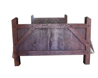 Rustic Rough Cut Red Oak Twin, Full, Quen, or King Size Bed Frame - Amish Made in the USA - FREE SHIPPING