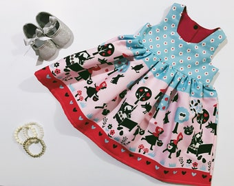 Girl Story Little Red Riding Hood Tea Party Dress