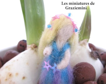 Miniature felted doll  -scale 1:12- Dollhouses miniatures