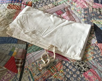 Vintage military white cotton mattress cover or cotton sleeping bag liner