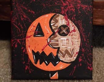 Killer Crafts - Samhain Sam Trick 'r Treat Lollipop Sam Face Canvas