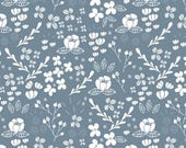Blue flower Baby leggings  toddler leggings  floral leggings  floral baby