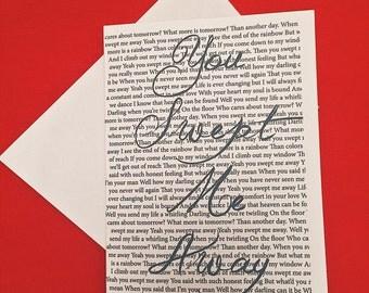 Swept Away Greeting Card