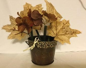 Cheetah Flower Pen Pot / Wedding, Shower, Party, Home or Office Gift