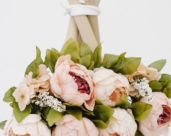 Blush Tones DELUXE Peony Floral Topper