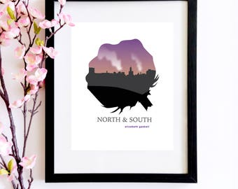 Closeout Sale *35% Off* Elizabeth Gaskell North and South Poster | A Bookish Print for Bookworms and Classic Literature Lovers