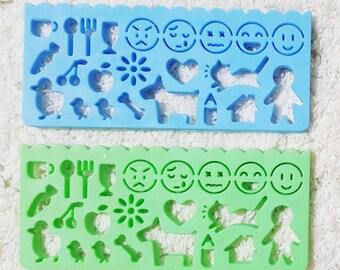 Home & Emojis - bullet journal stencil, planner stencil, bullet journal, journal stencils, bullet journal accessories