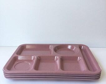Retro Set Of Cafeteria Trays