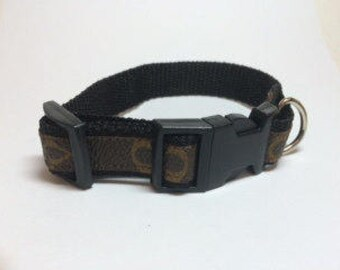 Louis Vuitton Dog Collar, Repurposed, Recycled, Upcycled, Reworked, Size x-small, small, medium, large