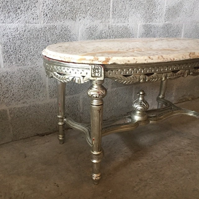 French Rococo Coffee Table: French Coffee Table French Furniture Marble Top Table