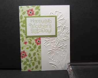 Embossed Flower Mother's Day