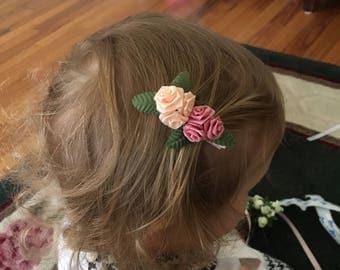 Set of 2 Rosette Hair Clips