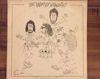 1975 The Who By the Numbers Album with Inner Sleeve/ MCA-2161/ MCA Records