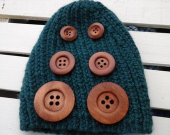 Brown Color Wood Buttons With 4 Holes Rope Crafts