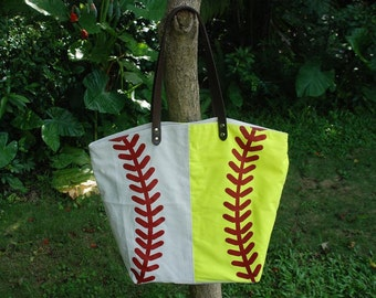 Canvas Totes for Softball & Baseball