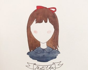 Matilda - Roald Dahl Watercolor Print