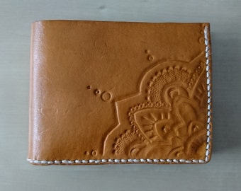 Leather mandala wallet