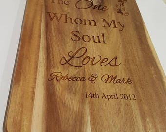 Personalised Chopping board, cheese board,