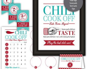 Chili Cook Off Kit --- Instant Download --- Printable --- #C550-PK