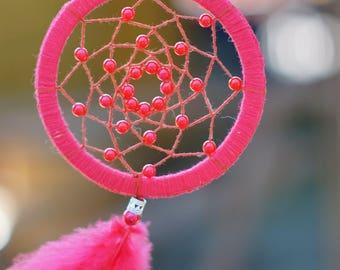 Dreamcatcher. White Dreamcatcher.  Red Dreamcatcher. Boho Wedding. Amulet for sleep