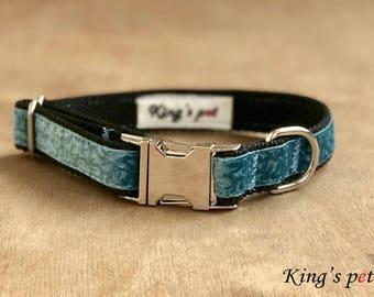 Dog Collar - Blue Dog Collar - Boy Dog Collar - Handmade Dog Collar - Cute Dog Collar - Pet Accessories - Small Dog Collar-Medium dog collar