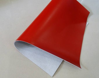 "Leather Scrap, Genuine Leather, Leather Pieces, Red, Size 8.5"" by 12""  Leather Scrap for DIY Projects."